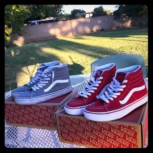 2 pairs of Skate-hi vans (bundle deal)